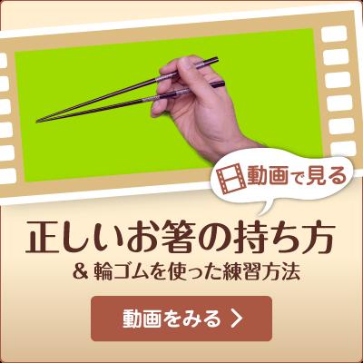 【動画で見る】お箸の正しい持ち方&輪ゴムを使った練習方法
